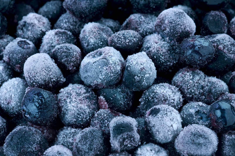 Frozen blueberries out of stock