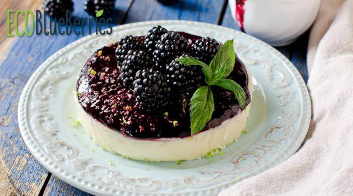 Cheesecake με βατόμουρα και λεμόνι