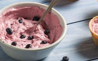 Παγωτό με καρύδα και αρώνια