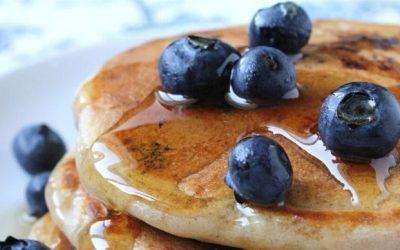 Pancakes με κατεψυγμένα μύρτιλα